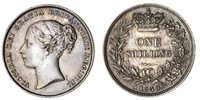Victoria (1837-1901), Shilling, 1859 over 8, 'damaged 8' variety...