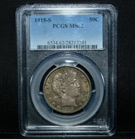 1915-S BARBER HALF DOLLAR ✪ PCGS MS-62 ✪ 50C SILVER UNCIRCULATED UNC ◢TRUSTED◣