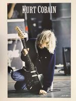 KURT COBAIN,NIRVANA,PHOTO BY GIE KNAEPS,AUTHENTIC LICENSED 2005 POSTER