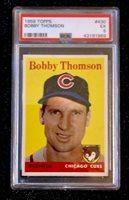1958 Topps Bobby Thomson #430 Baseball Card Chciago Cubs PSA 5 EX