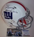Eli Manning - Autographed Official Full Size Riddell Authentic Flat White Speed Proline Football Helmet - New York Giants - PSA/DNA