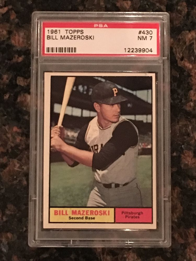 1961 Bill Mazeroski Baseball Card Psa 7