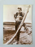 GIANT, JAMES DEAN, RARE EARLY 1980's FOTOCARD POSTCARD