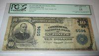 $10 1902 St. Joseph Michigan MI National Currency Bank Note Bill 5594 PCGS Saint