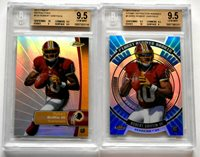 BGS 9.5 GEM MINT LOT (2) Robert Griffin III 2012 Topps Finest Ravens Baylor RC