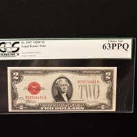 $2 1928 F, PCGS 63 PPQ Choice New, Fr #1507 (DA Block) Julian/Snyder