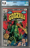Godzilla #1 CGC 9.8 (Aug 1977, Marvel) Herb Trimpe cover, 1st Issue, Nick Fury