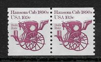 US 1982 Definitive issue Transportation, Stage Cab 10.9c,Sc # 1904 pair,VF MNH**