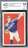 2006 Bowman Heritage Prospects 85 Clayton Kershaw Rookie Card Graded Bccg 10