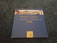 Cyprus 2008 UNC Uncirculated Set in Presentation Holder - Euro Coins