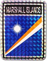 "Marshall Islands Reflective Decal Bumper Sticker 3.875"" x 3"""