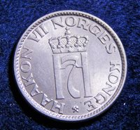 Norway 1957 50 Ore Better Date Nice Uncirculated CuNi Rare Coin! KM# 402