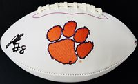 JUSTYN ROSS #8 SIGNED CLEMSON TIGERS LOGO FOOTBALL PSA/DNA 18 CHAMPS