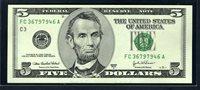 $5 2003A Philadelphia. Cabral-Snow. F1991C. Gem Uncirculated. FC36797946A.