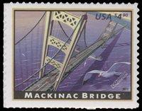$4.90 Priority Mail, Mackinac Bridge... Scott: 4438