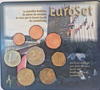 2002 Luxembourg 8 Coins First Official Euro Set Special Edition