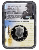 1964 ACCENT HAIR KENNEDY NGC PF 69 CAMEO- Aspiration Kennedy