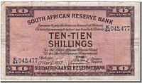 10 Shillings Südafrika Banknote, 1943-04-12
