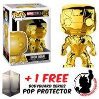 FUNKO POP MARVEL STUDIOS HULK GOLD CHROME EXCLUSIVE FREE POP PROTECTOR