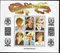 PRINCESS DI - BURKINA FASO - MEMORIAL STAMP SHEET