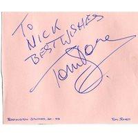 JONES Tom The Voice Signed Album Page UACC COA