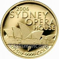 Australia 2006 Sydney Opera House $5 1/25 Ounce Pure Gold Proof