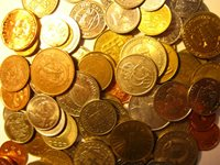 Collection of 50 world coins from 50 countries.