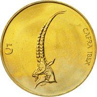 Slovenia, 5 Tolarjev, 2000, MS(65-70), Nickel-brass, KM:6