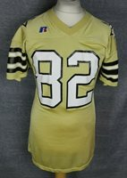 #82 VINTAGE AMERICAN FOOTBALL JERSEY RUSSELL ATHLETIC MENS LARGE RARE GOLD