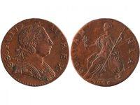 Pièce Royaume-Uni 1/2 Penny Georges III