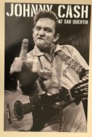 JOHNNY CASH,'AT SAN QUENTIN' AUTHENTIC 2011 POSTER