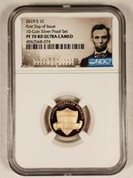2018-S LINCOLN PROOF CENT 1c BLUE EARLY RELEASES NGC PF70 ULTRA CAMEO
