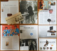 SCOTT WALKER BROTHERS UK articles 1960s/2010s photos magazine clippings RIP