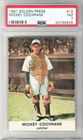 1961 -Mickey Cochrane- Golden Press Detroit Tigers HOF Baseball Card - PSA 7