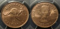1961 (P) Australia Half Penny 1/2d PCGS MS65 RD Gem UNC