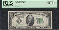 *VINSON* 1934B $10 Atlanta F-B Block FRN PCGS Almost Uncirculated AU 53PPQ C2C