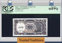 10 Piastres 1940 Egypt Arab Republic Pcgs 66 Ppq Gem New Finest Known