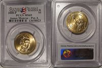 2008 P James Monroe Presidential Dollar $1 PCGS MS69 Satin Finish Position A