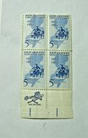 1964 New Jersey Tercentennary 5 Cent U.S. Block of 4 Stamps