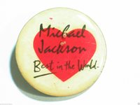 Michael Jackson Best in the World Pin Pink Heart