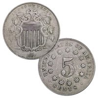 Shield Nickel Circulated Condition Mixed Dates