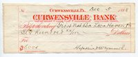 USA - Beautiful Antique dated 1888 Cheque - Check