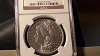 1882 O/S Morgan Silver Dollar NGC AU 58 -ERROR COIN!- (82O/SMSDG027)