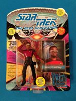 Star Trek TNG - 1993 - Playmates - Lt Commander Geordi La Forge in Dress Uniform