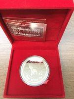 2009 Australia Lunar Year Of The OX 2 oz Silver Proof $2 Coin BOX COA