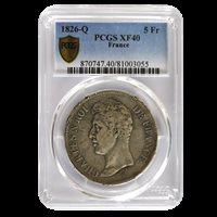5 Francs Charles X 1826 Q EF 40