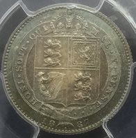 Great Britain 1887 Shilling PCGS MS 64 Gorgeous Colour Nice Type Coin Secure