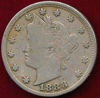 1888 LIBERTY 5c VF20
