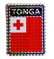 """Tonga Country Reflective Decal Bumper Sticker 3.875"""" x 3"""""""