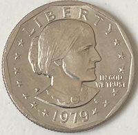 1979 P ~ FAR DATE Variety ~ USA ~ SUSAN B. ANTHONY DOLLAR ~ AU50+ Condition